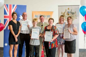 Brighton's Australia Day award recipients with Mayor Tony Foster