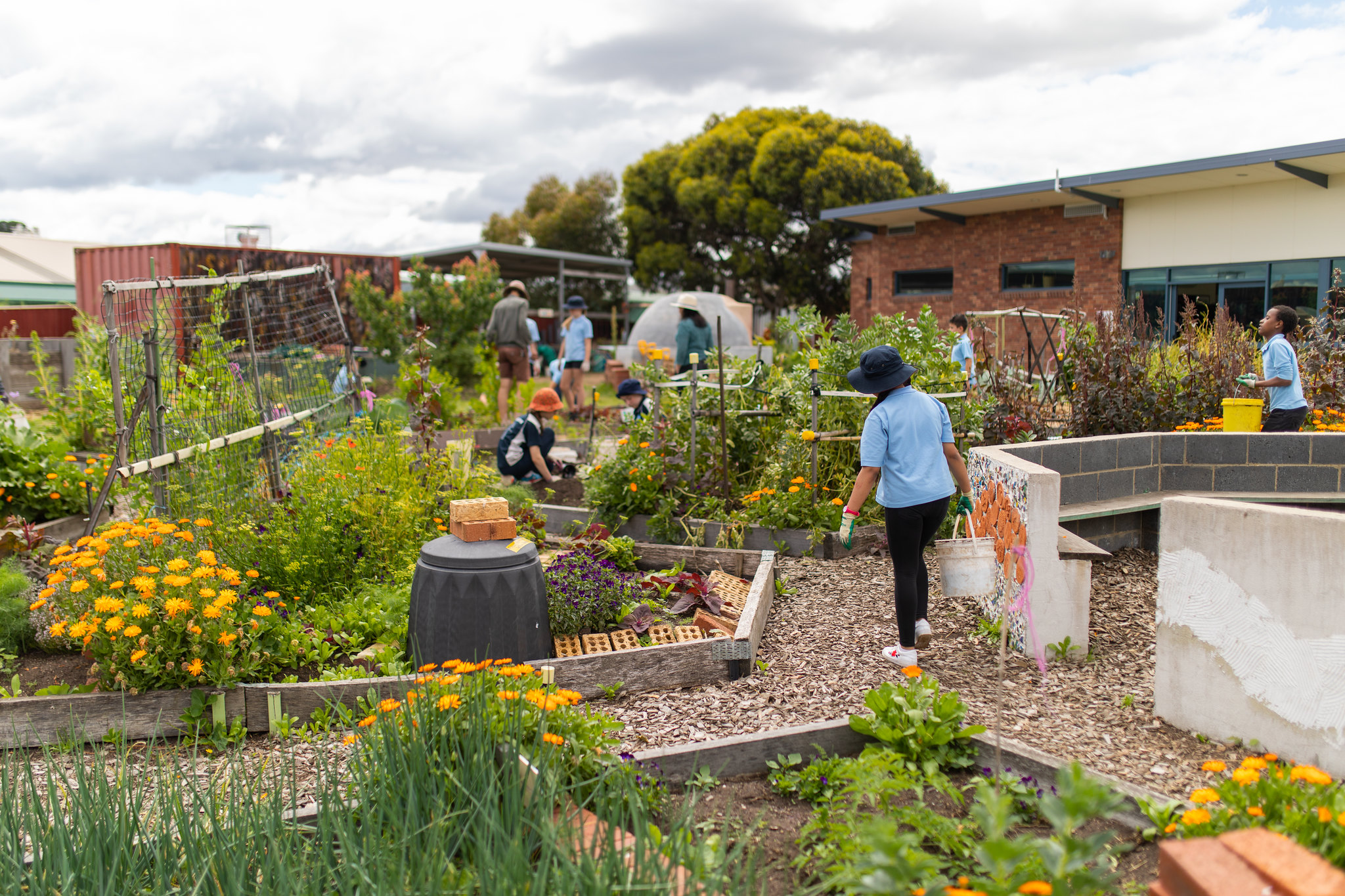 24 Carrot has been working in Gagebrook to build a community garden where regular activities are hosted in art, gardening and cooking. Photo: Jesse Hunniford, MONA