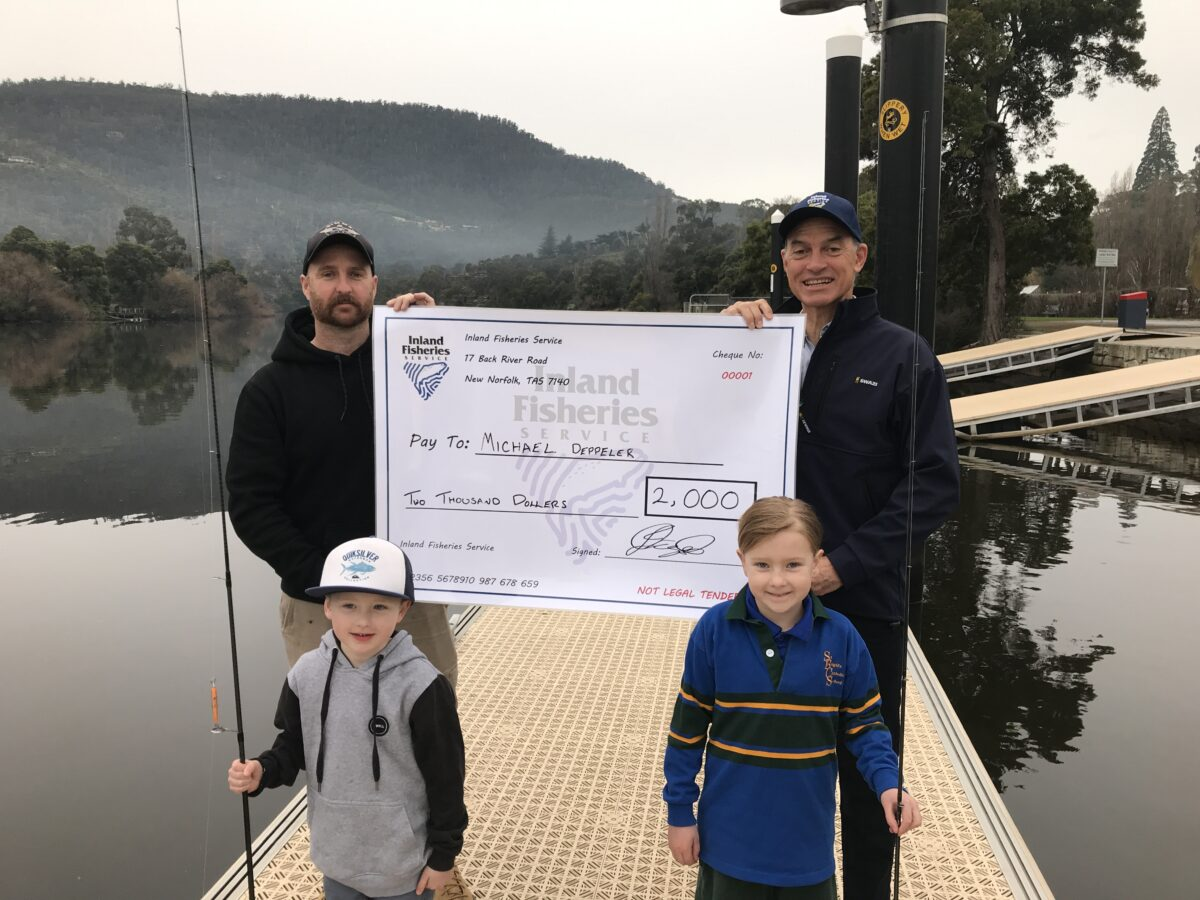 $2000 tagged trout is angler's cash of the day